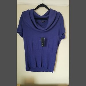 Purple sweater with swoop neck size xl